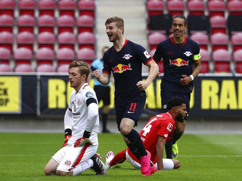 Hasil Liga Jerman: Timo Werner Hat-trick, RB Leipzig Libas Mainz 5-0