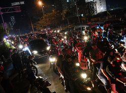 Suasana Malam Takbiran di Seputaran Jakarta