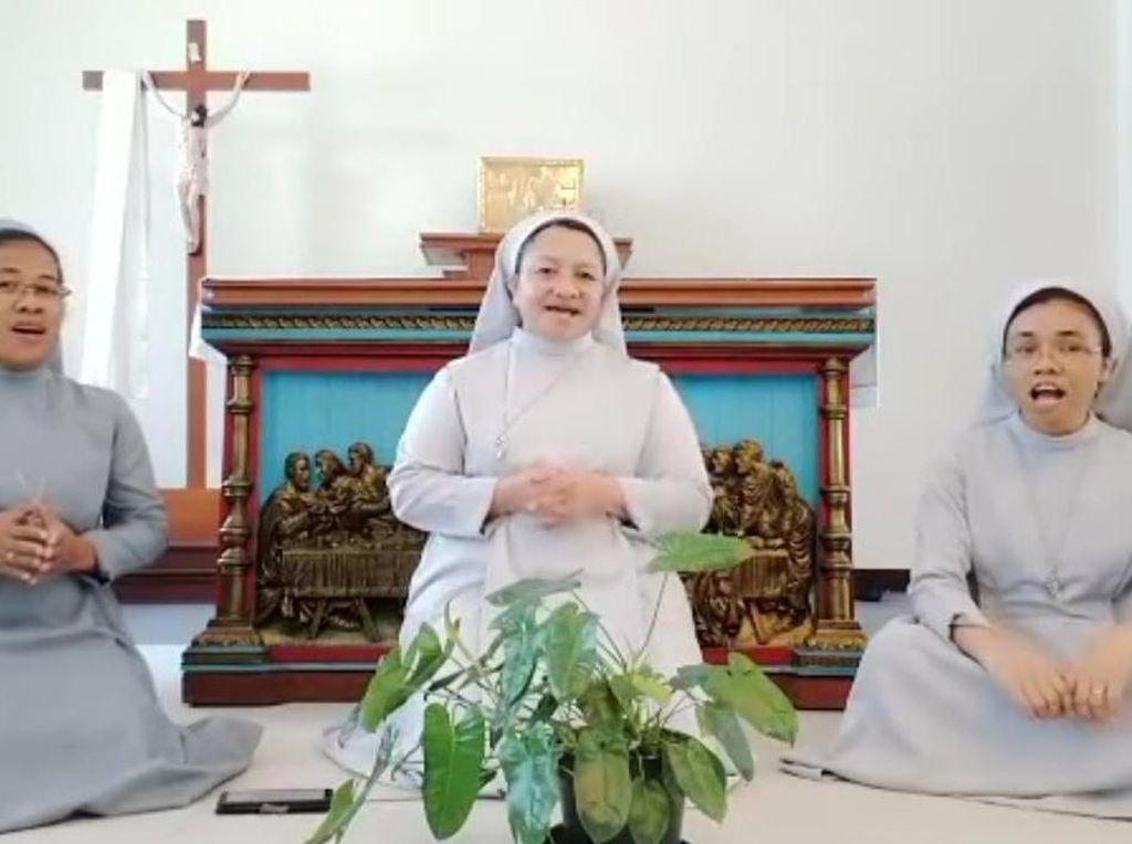 Bagus Banget! Viral Video 3 Suster Katolik Nyanyi Lagu Lenaran