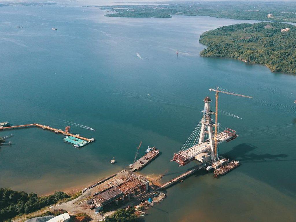 Setelah Jembatan Ini Kelar, Balikpapan-Penajam Cuma 1 Jam