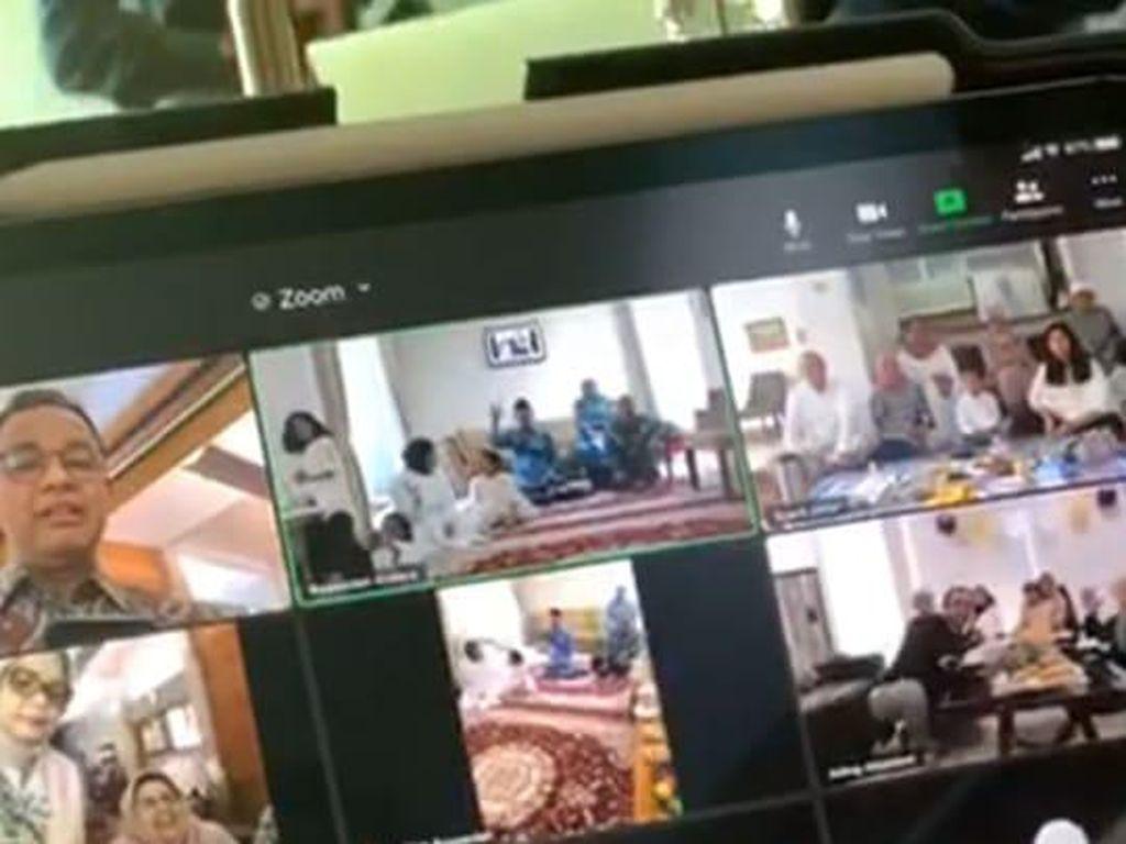 Salat Id di Rumah, Anies dan Keluarga Lebaran Lewat Virtual