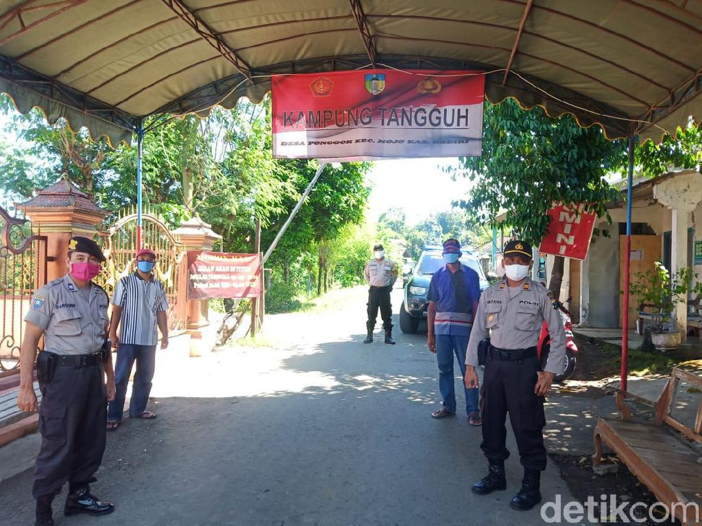 Kampung Tangguh, Cara Polisi Kota Kediri Latih Warga Perangi COVID-19