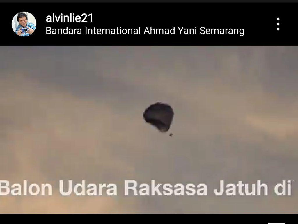 Bahaya! Balon Udara Juga Jatuh di Area Bandara Semarang