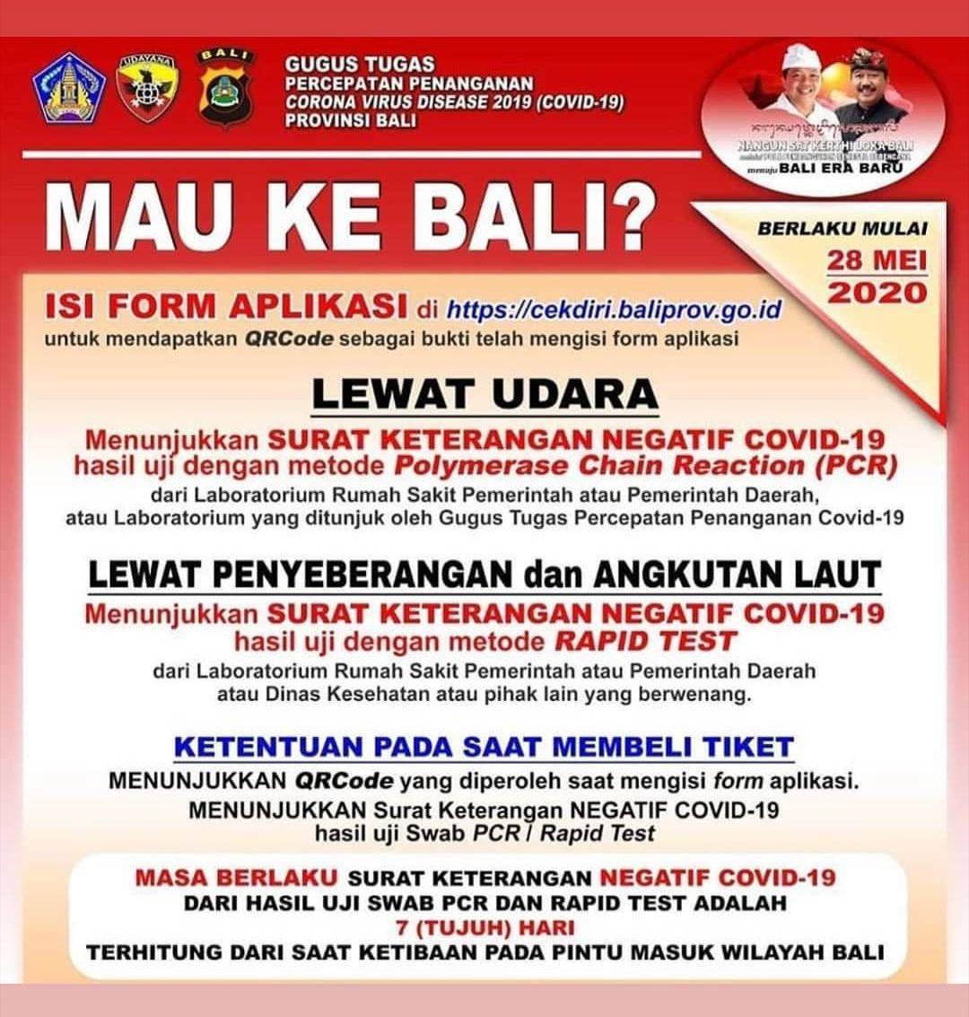 Aturan liburan ke Bali.