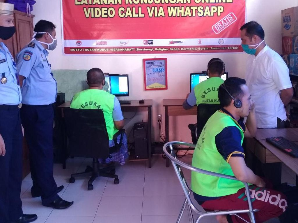 Cegah Corona, Rutan Kudus Berlakukan Kunjungan Online Saat Idul Fitri