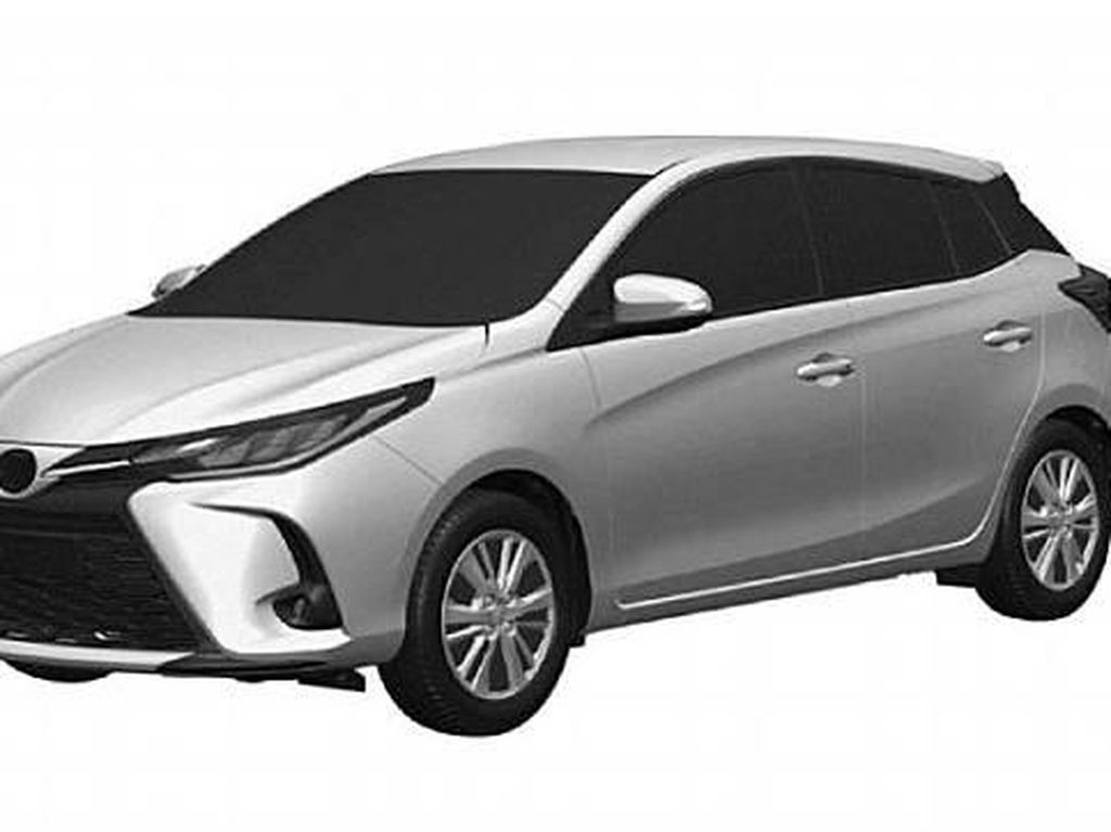 Gambar Paten Bocor, Inikah Wujud Toyota Yaris 2021?