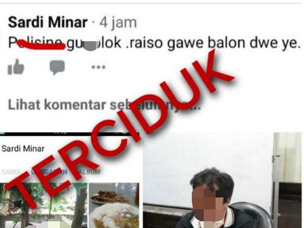 Iseng Hina Polisi, Tukang Sayur di Ponorogo Dijerat UU ITE