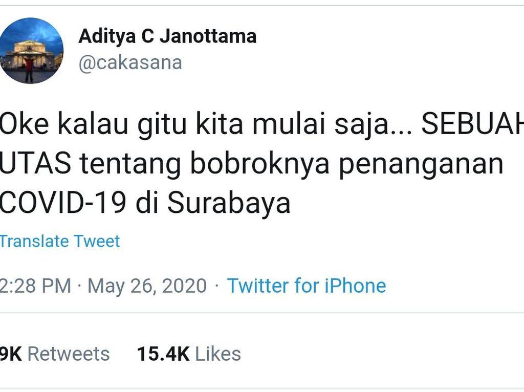 Ini Klarifikasi RS Royal Tentang Viral Tweet Penanganan COVID-19 di Surabaya