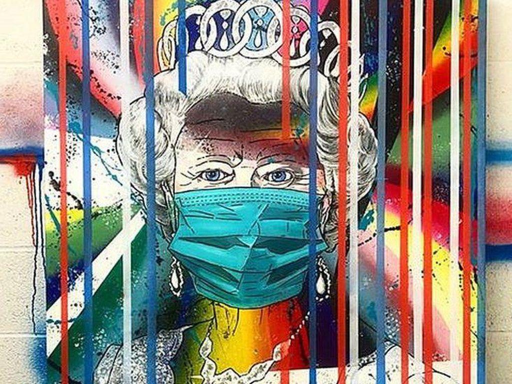 Lukisan Pop-art Ratu Elizabeth Bermasker Jadi Sorotan