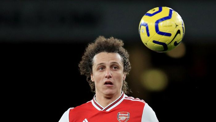 LONDON, ENGLAND - DECEMBER 05: David Luiz of Arsenal during the Premier League match between Arsenal FC and Brighton & Hove Albion at Emirates Stadium on December 5, 2019 in London, United Kingdom. (Photo by Marc Atkins/Getty Images)