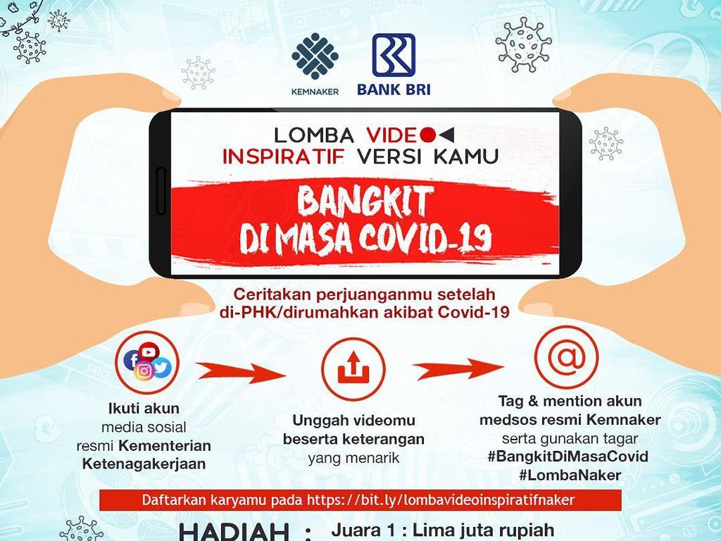 Ikuti Lomba Video Inspiratif Kemnaker, Bisa Raih Hadiah Jutaan Rupiah