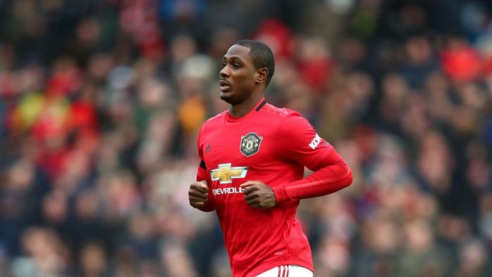 MANCHESTER, ENGLAND - FEBRUARY 23: Odion Ighalo of Manchester United looks on during the Premier League match between Manchester United and Watford FC at Old Trafford on February 23, 2020 in Manchester, United Kingdom. (Photo by Clive Brunskill/Getty Images)