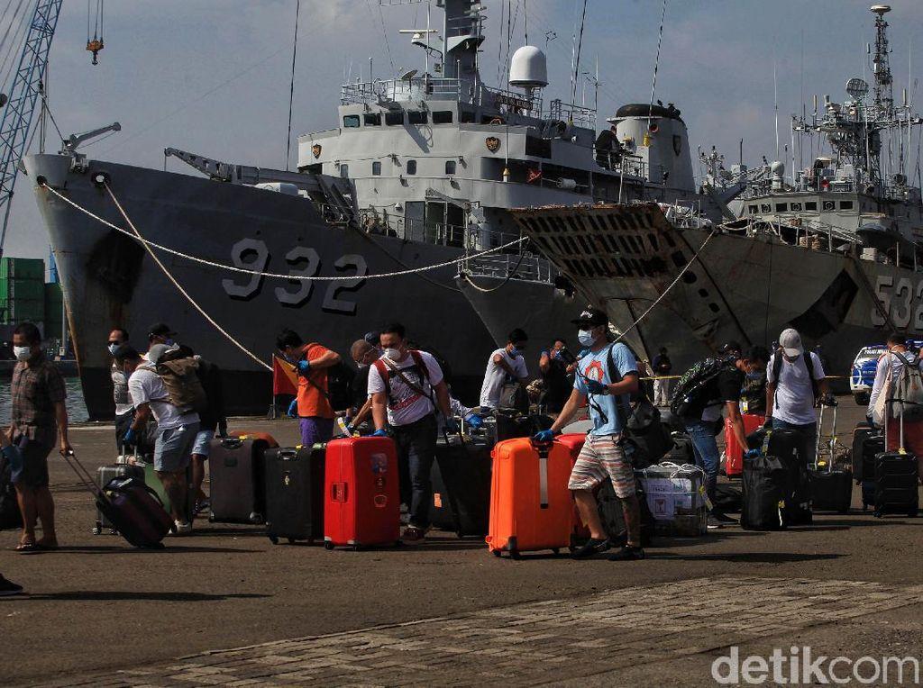 WNI ABK Nieuw Amsterdam Tiba di Pelabuhan Tanjung Priok