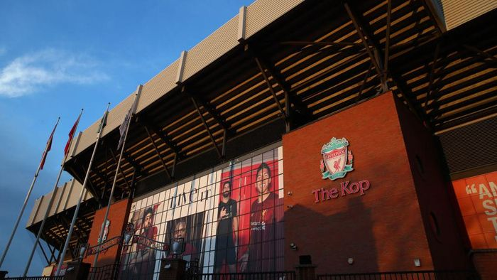 LIVERPOOL, ENGLAND - DECEMBER 29: A general view outside the stadium prior to the Premier League match between Liverpool FC and Wolverhampton Wanderers at Anfield on December 29, 2019 in Liverpool, United Kingdom. (Photo by Clive Brunskill/Getty Images)