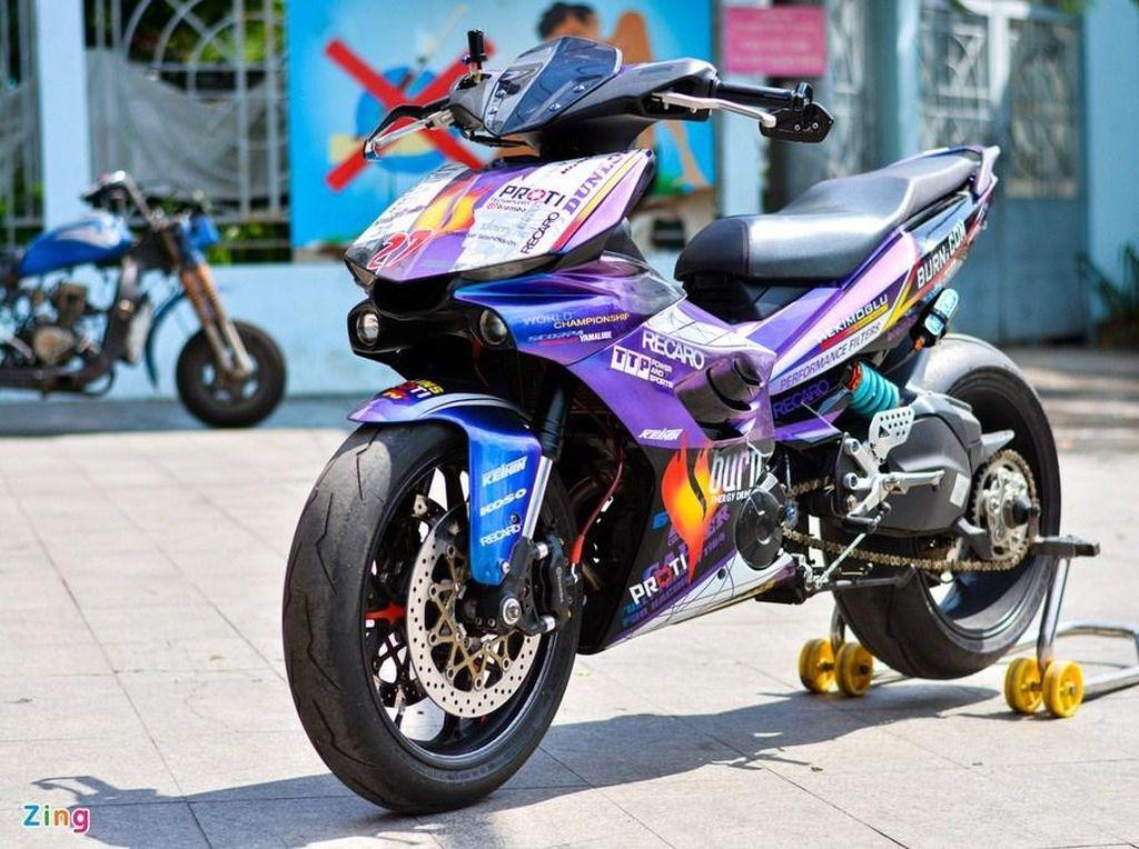 Modifikasi Yamaha MX King Pakai Part Moge, Habiskan Rp 158 Juta