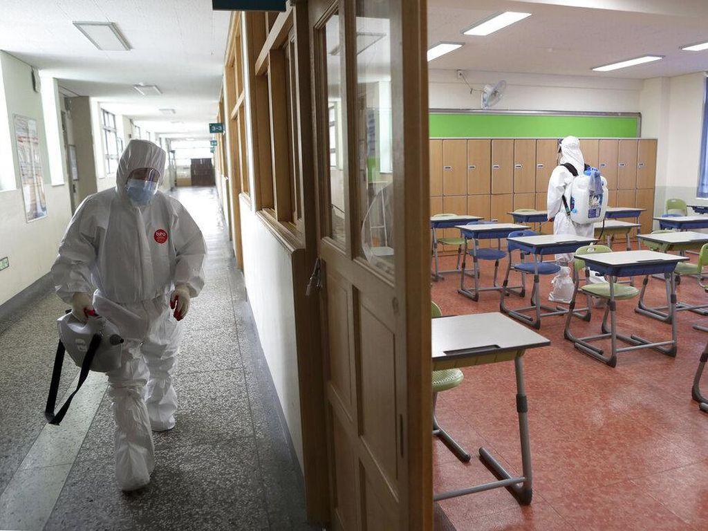 Kasus Corona Melonjak, Sekolah di Korsel Kembali Ditutup