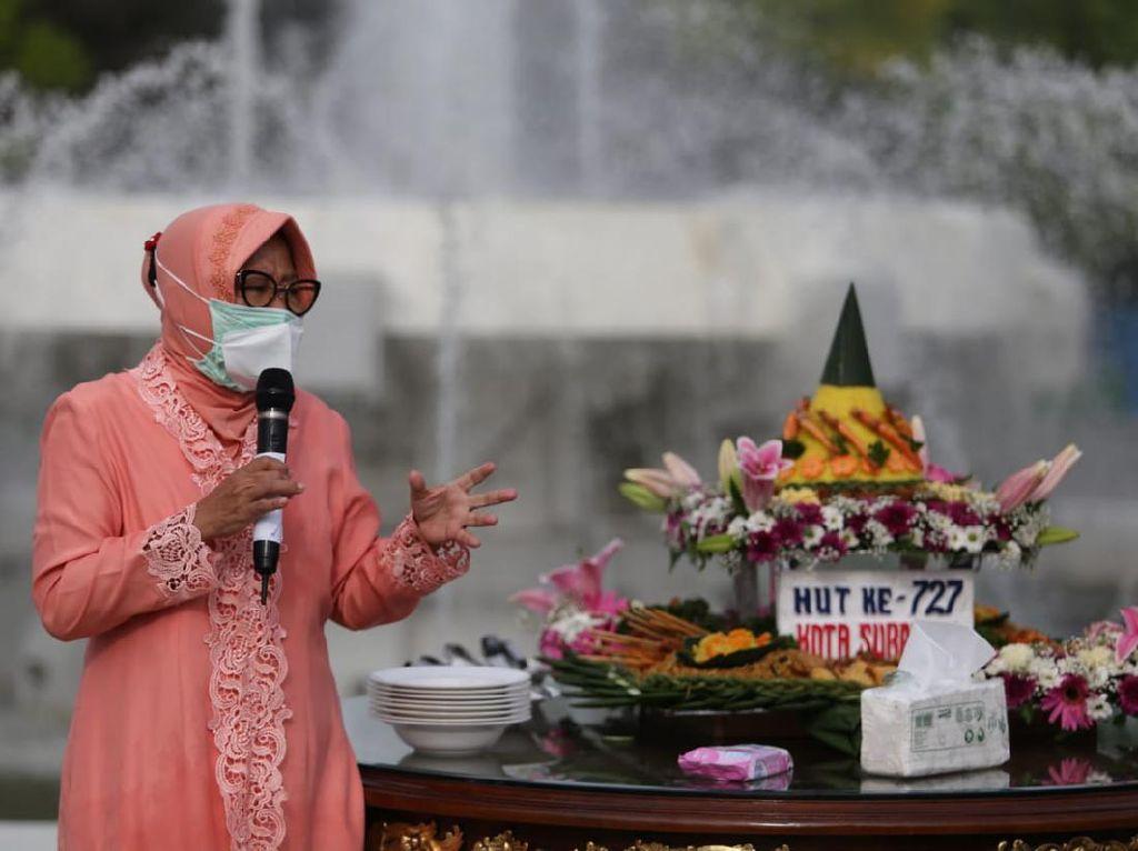 HUT Surabaya di Tengah Pandemi, Risma Rindu Makan Bareng Warga di Pesta Rakyat