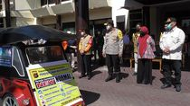 Polda Gorontalo Gandeng Pengemudi Becak Motor Sosialisasikan New Normal