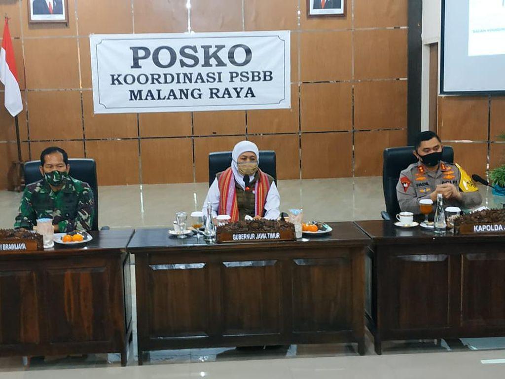 Transisi New Normal, Khofifah Imbau Warga Malang Raya Disiplin Protokol COVID-19