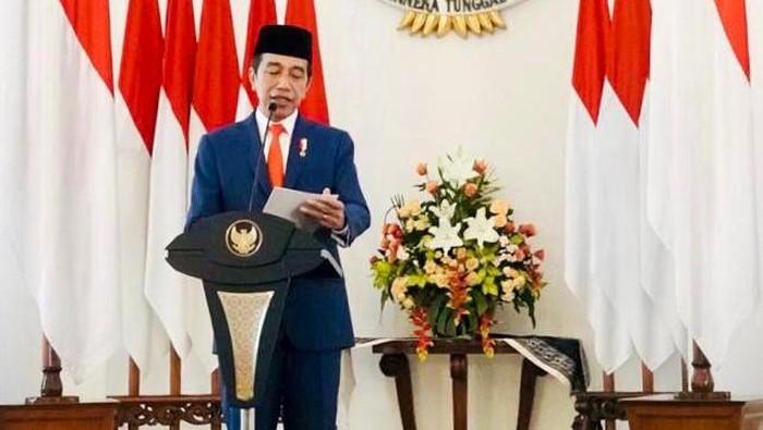 Presiden Jokowi dalam peringatan hari lahir Pancasila, Senin (1/6/2020).