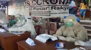Periksa Pengunjung Pasar, Pemkab Sukabumi Siapkan 2.300 Alat Rapid