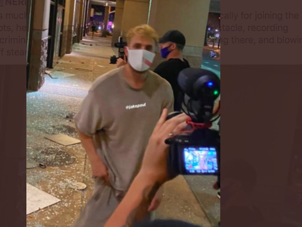 Terlibat Kerusuhan, YouTuber Jake Paul Dijerat Pidana