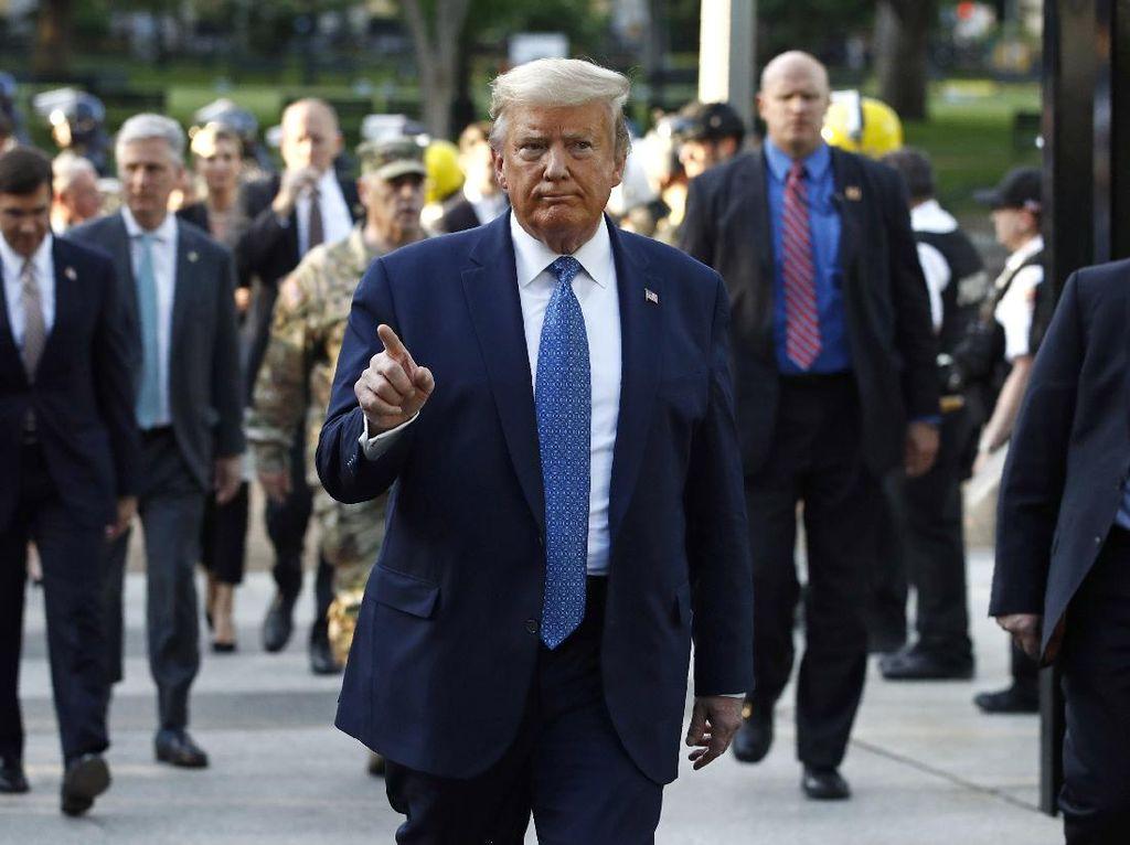 Trump Tak Henti Bikin Kontroversi soal George Floyd