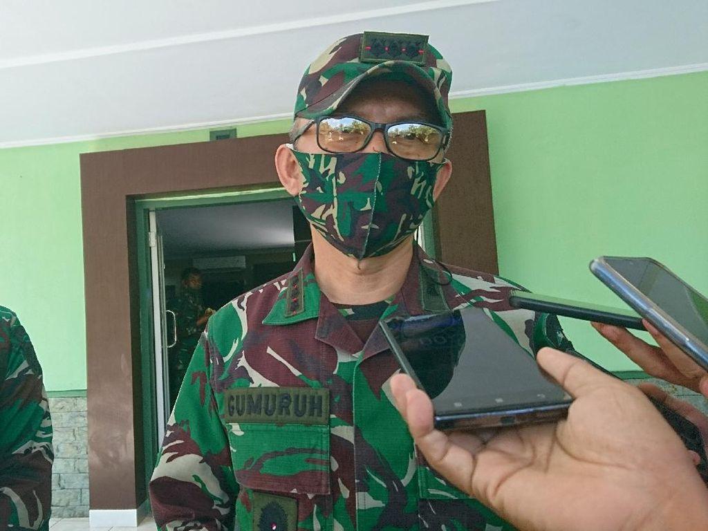 TNI Jaga 56 Titik Keramaian di Banten Disiplinkan Masyarakat terkait Corona