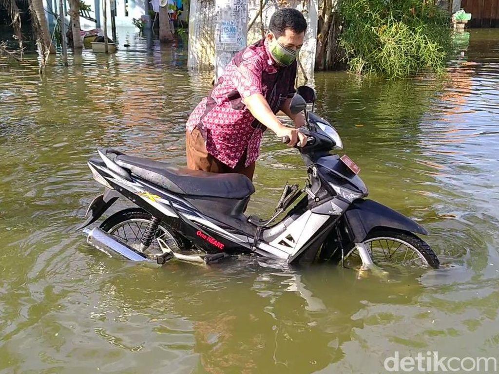 Banjir Rob Genangi Permukiman Kota Pekalongan, 150 Warga Mengungsi