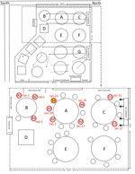 Sketsa denah restoran X (CDC)
