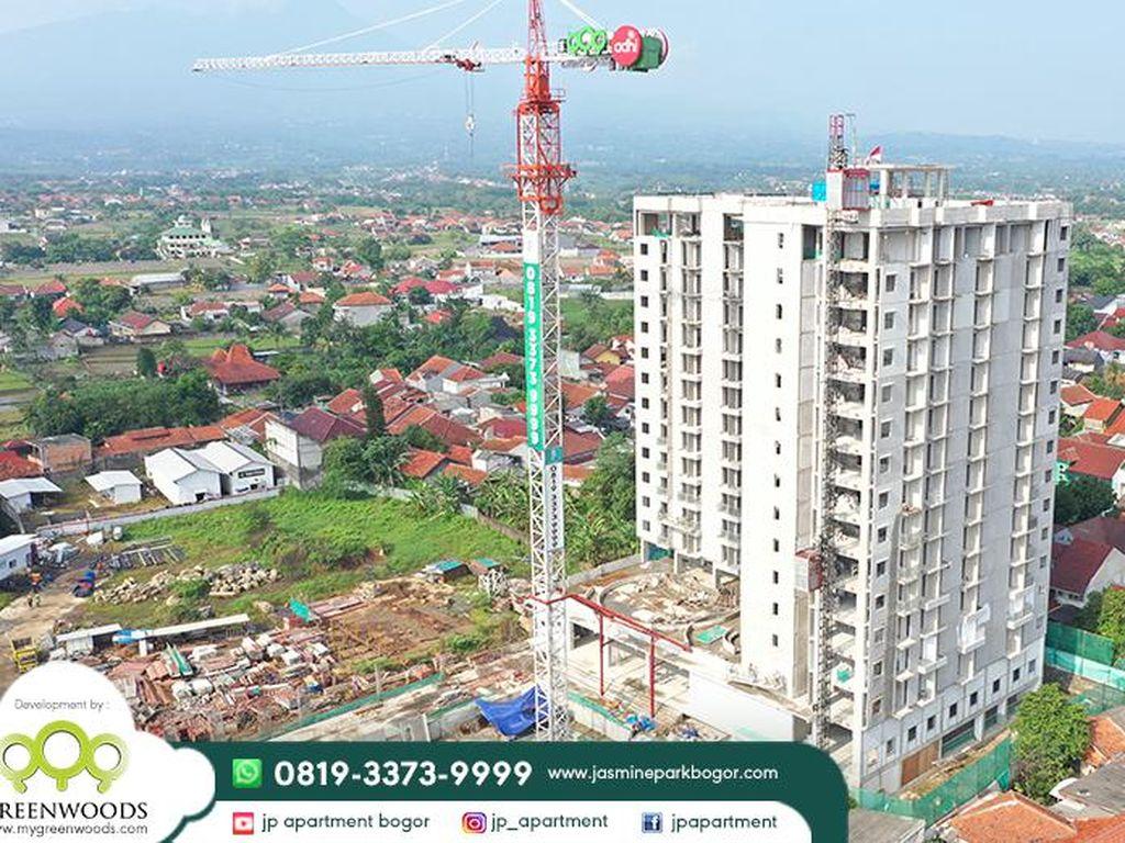 Greenwoods Group Selesaikan Topping Off JP Apartment Saat Pandemi