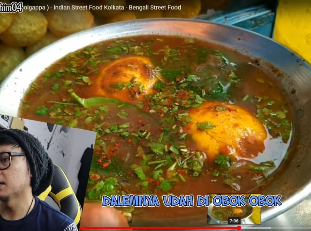 Reaksi Kocak Youtuber Sunda Saat Nonton Video Makanan India
