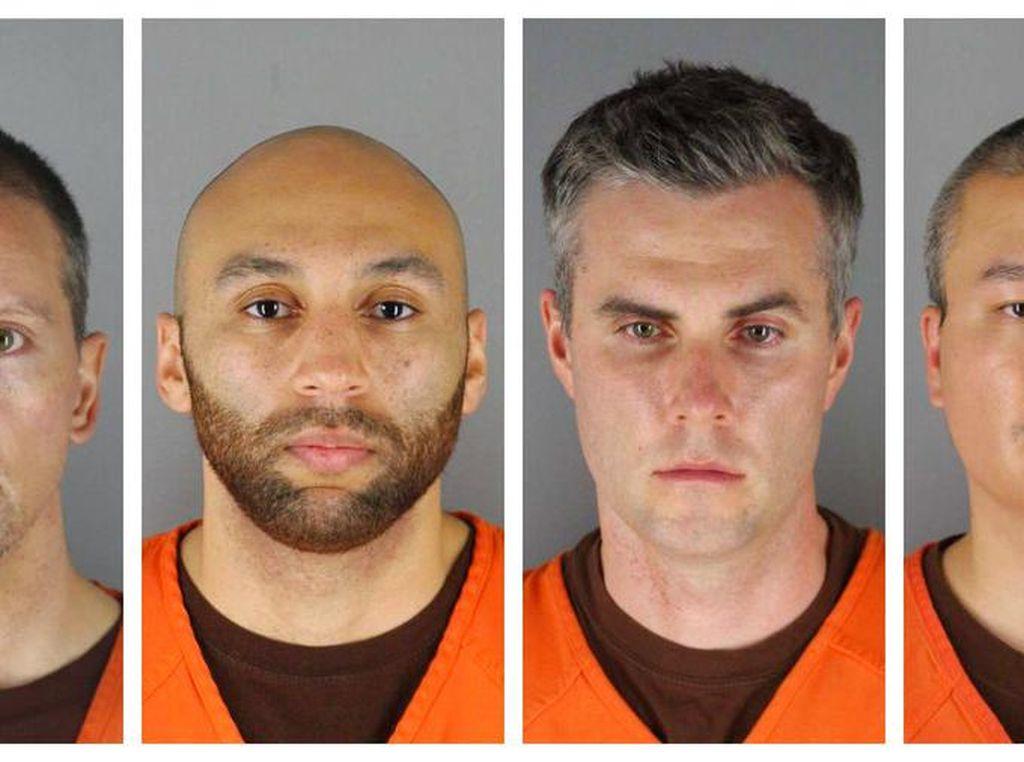 Jerat Hukum untuk 4 Polisi Pembunuh George Floyd