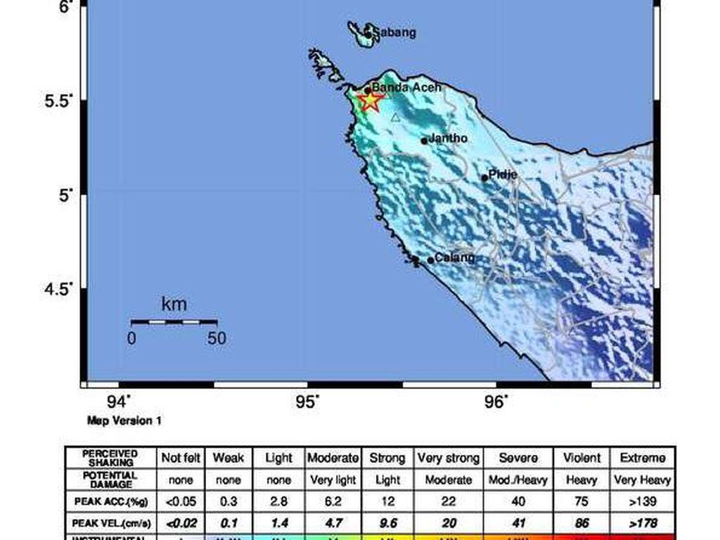 Gempa M 4,8 Terjadi di Aceh dan Sabang Akibatkan Kerusakan