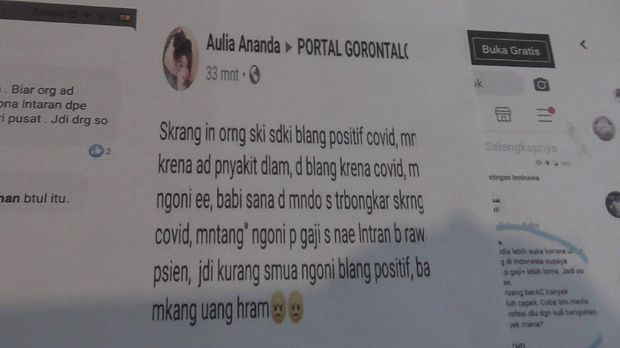 Nakes di Gorontalo polisikan akun Facebook yang lakukan fitnah