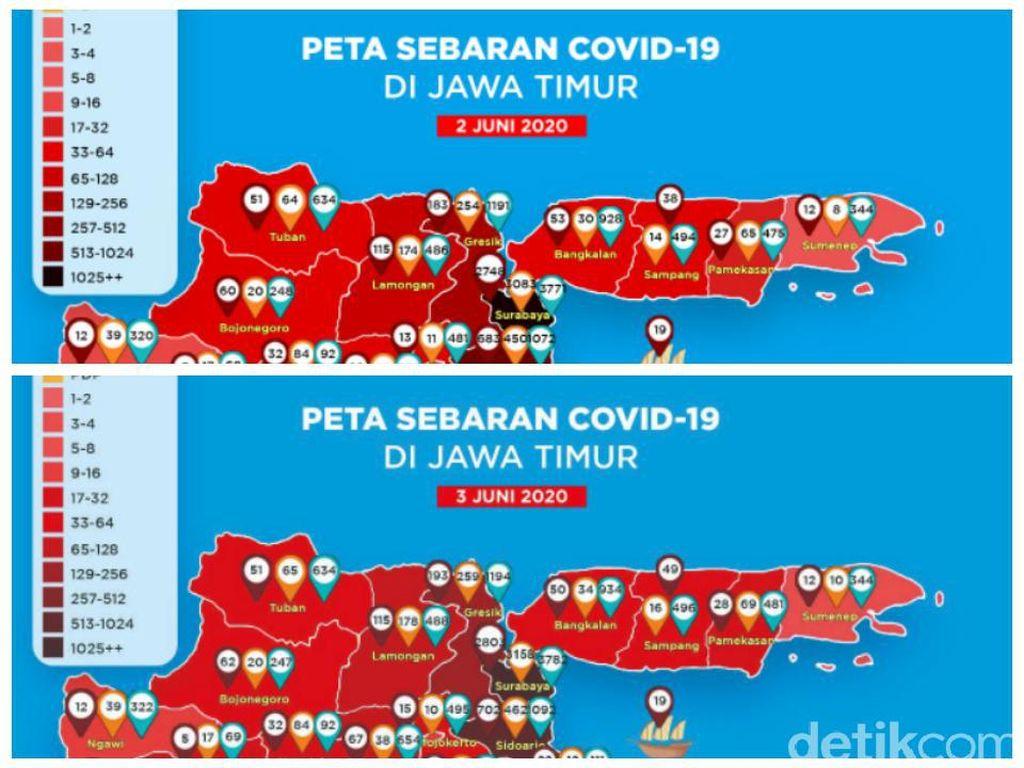 Peta COVID-19 di Surabaya Tak Lagi Zona Hitam, Kini Merah Pekat