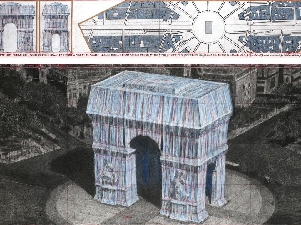 Warisan Terakhir Christo, Arc de Triomphe Akan Dibungkus Kain Biru