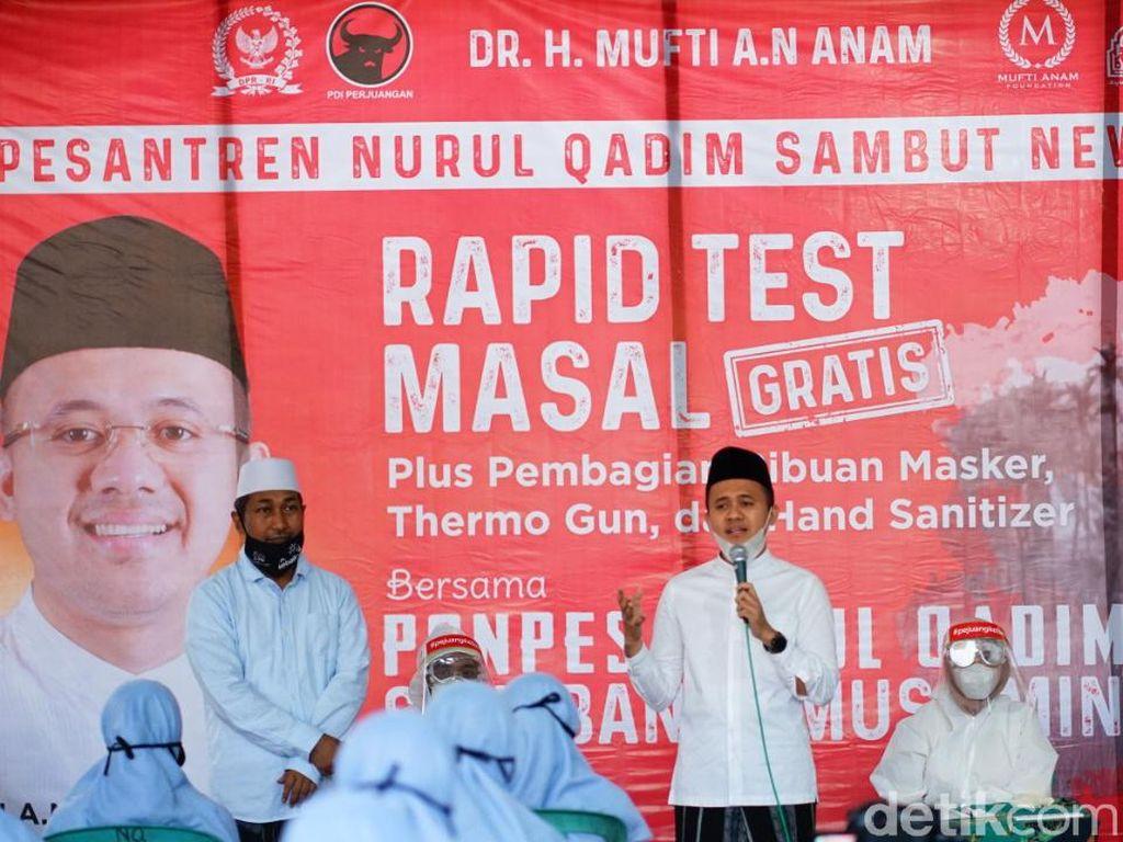 Rapid Test Massal Santri, Politisi Ini Fasilitasi New Normal Pesantren