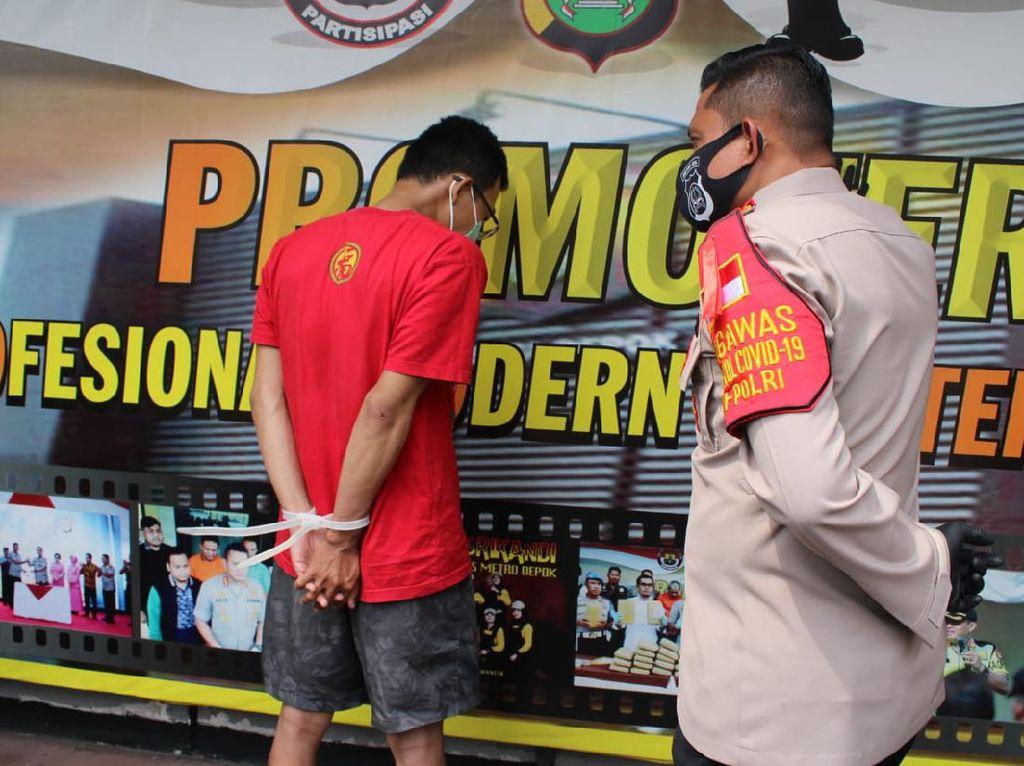 Curi Handphone Milik Polantas, Seorang Pria di Depok Ditangkap