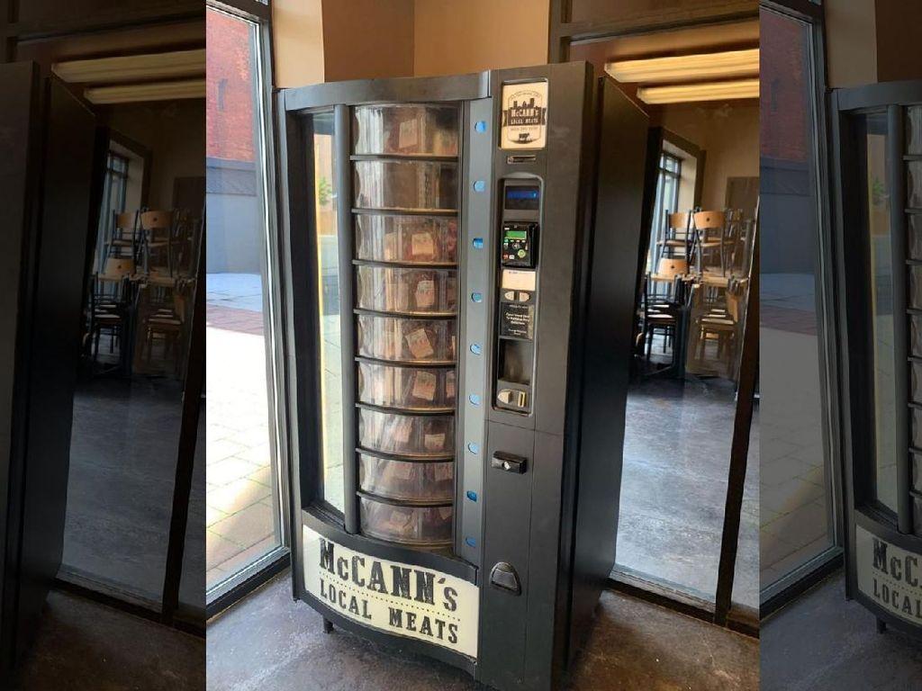 Pasang Vending Machine, Toko Daging Ini Laris di Tengah Pandemi COVID-19