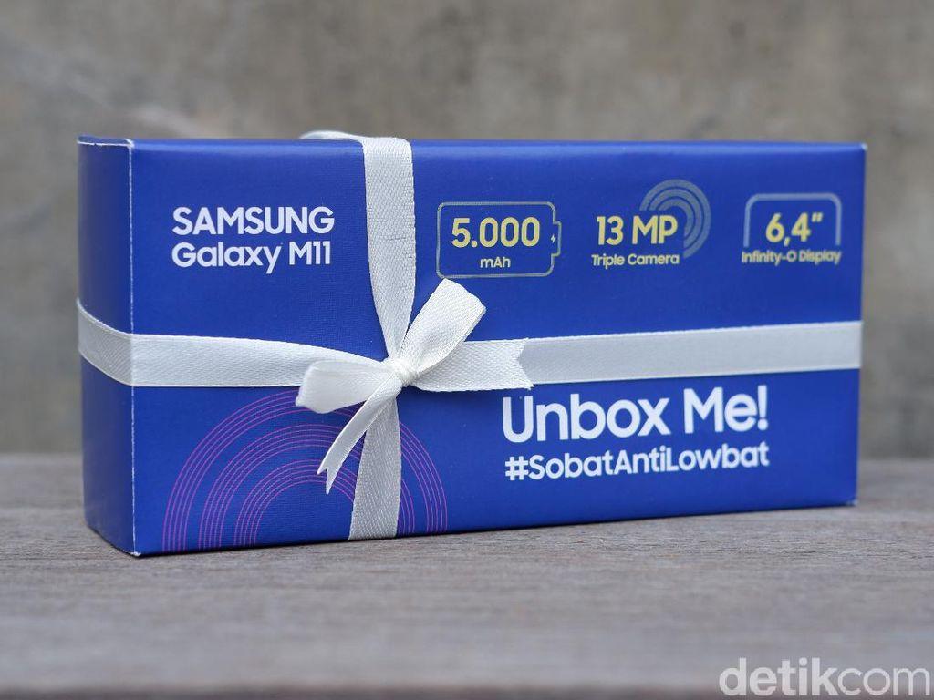 Unboxing Galaxy M11, Bawa Batre 5.000 mAh Harga Rp 2 Juta