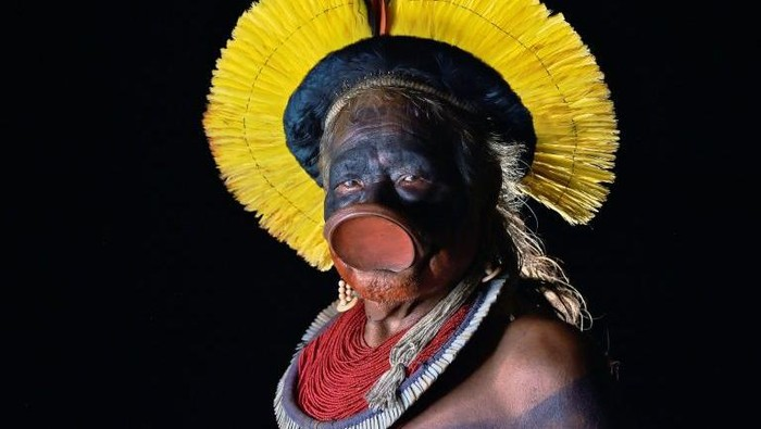 Kepala adat ikonik Raoni Metuktire (AFP Photo)