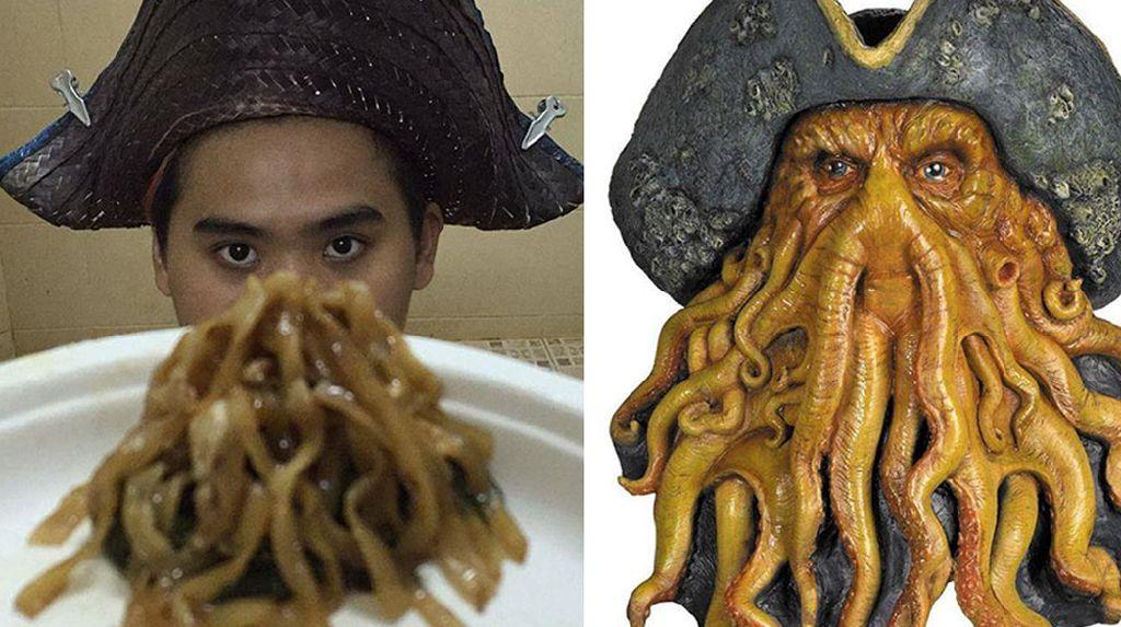 Gaya Kocak Selebgram Thailand yang Cosplay Jadi Berbagai Makanan