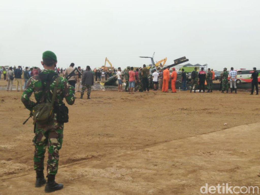 1 Korban Helikopter Jatuh di Kendal Dibawa ke Jakarta, Begini Kondisinya