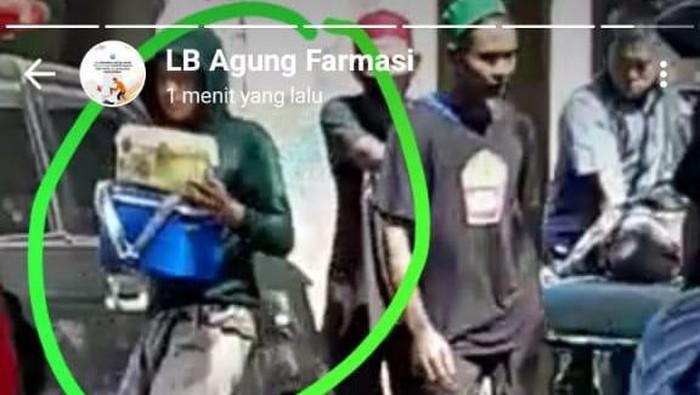 Viral warga curi cool box berisi sampel pasien COVID-19 dari RSUD Labuang Baji (Dok. Istimewa)