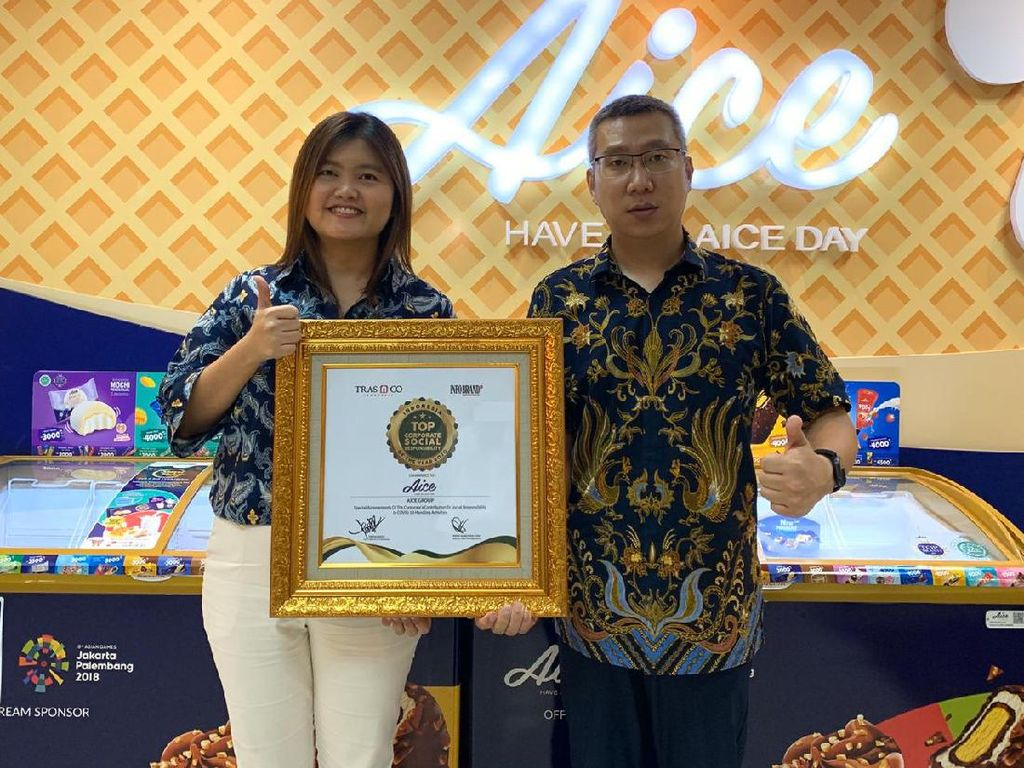 Sumbang APD hingga Es Krim, AICE Raih TOP CSR of The Year 2020
