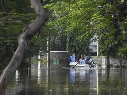 Viral Video Orang Tidur di Genangan Banjir Rob, Polisi: Nggak Ada Laporan