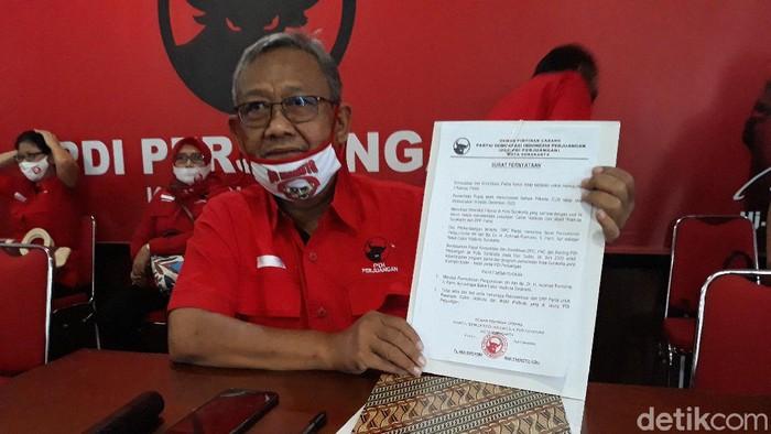 Ketua Badan Pemenangan Pemilu DPC PDIP Solo, Putut Gunawan di kantor DPC PDIP Solo.