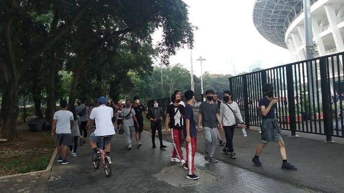 Minggu pagi pertama era PSBB masa transisi Jakarta. (Wilda Hayatun Nufus/detikcom)