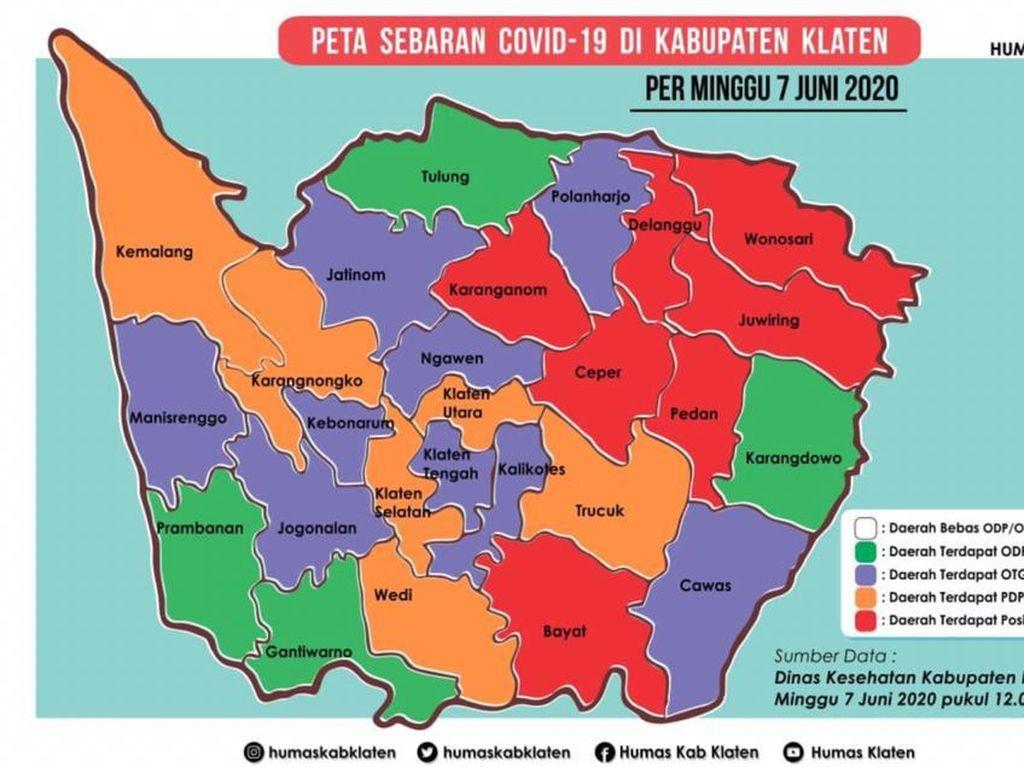 Klaten Catat Tambahan 2 Zona Merah Corona dalam Sehari